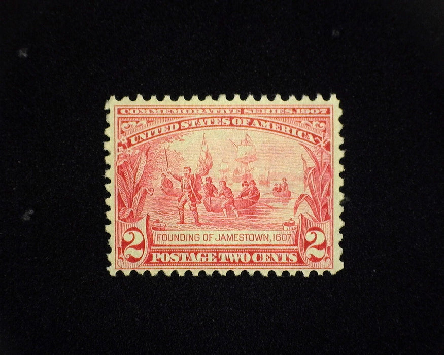 #329 MNH 2 cent Jamestown. F/VF