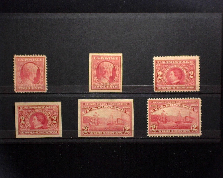 #367,368,370-373 MLH 1909 issue F/VF