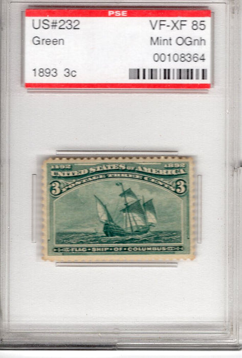 #232 Slabbed in PSE VF/XF MNH
