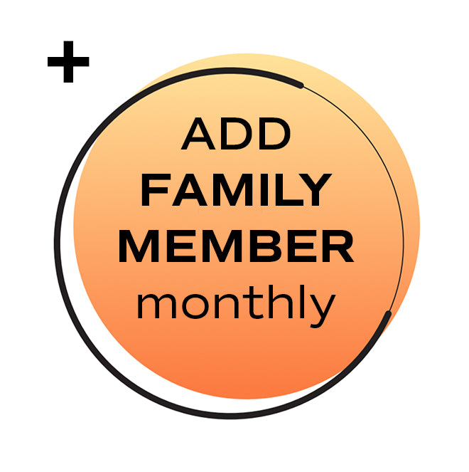 Add a Family Member: Get cell collection services for a $199 one-time fee for an additional family member, plus get their cell storage fees paid monthly for $9.99 per month.