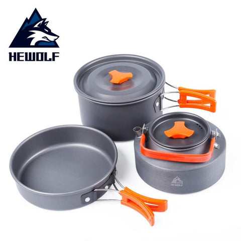 Aluminium camping cooking set picnic equipment