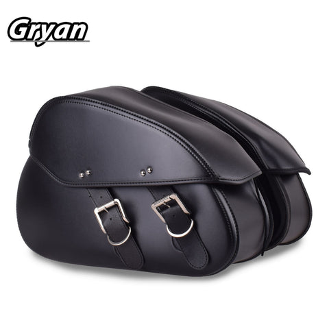 Motorcycle Saddlebags PU leather water resistant