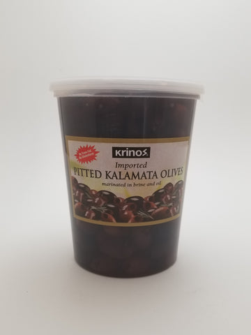Krinos Pitted Kalamata Olives Deli Cup 2lb - Nick's International Foods