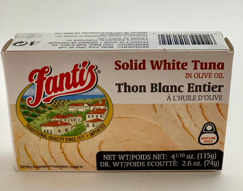 Solid White Tuna in Olive Oil 115g - Nick's International Foods
