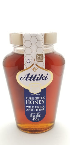 Attiki Pure Greek Honey 16oz - Nick's International Foods