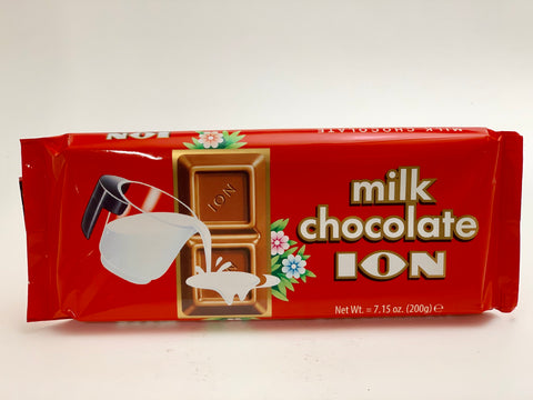 ION Milk Chocolate Bar 200g - Nick's International Foods
