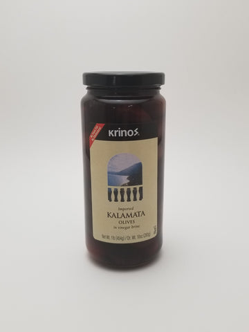 Krinos Kalamata Olives 1lb. - Nick's International Foods