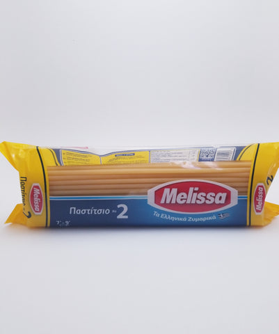 Melissa #2 Greek Macaroni Pastichio Pasta Noodles 1lb - Nick's International Foods