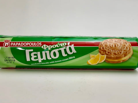 Papadopoulos Lemon Cream Sandwich 200g - Nick's International Foods