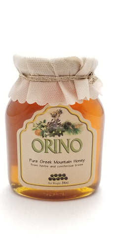 Orino Honey Glass Jar 16oz