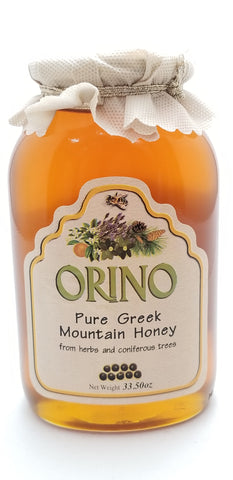 Orino Honey Glass Jar 34oz