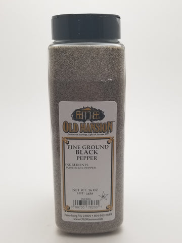 Black Pepper Fine Ground 16oz - Nick's International Foods