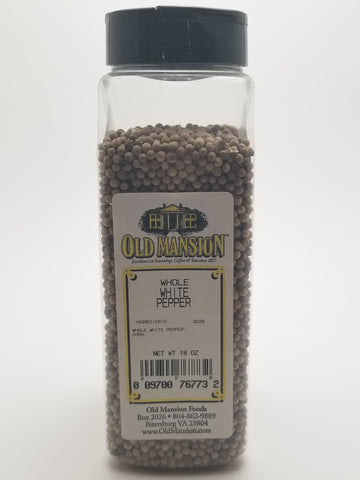 White Pepper Whole 18oz - Nick's International Foods
