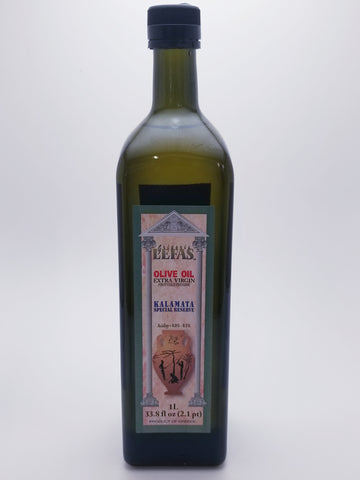 Lefas Extra Virgin Olive Oil 1 Liter Glass Bottle