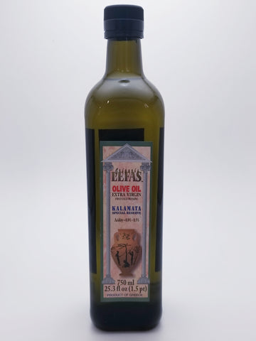 Lefas Extra Virgin Olive Oil 750 Milliliter Glass Bottle