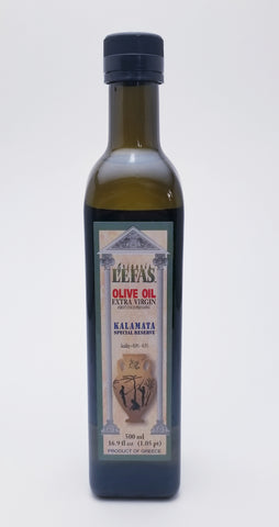 Lefas Extra Virgin Olive Oil 500 Milliliter Glass Bottle