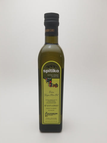 Spitiko Extra Virgin Olive Oil 500 Milliliter Glass Bottle