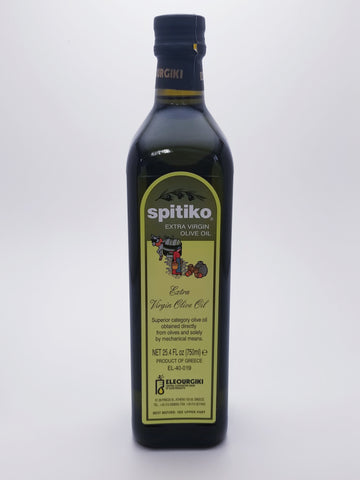 Spitiko Extra Virgin Olive Oil 750 Milliliter Glass Bottle