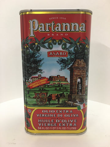 Partanna Sicillian Extra Virgin Olive Oil 1 Liter Tin