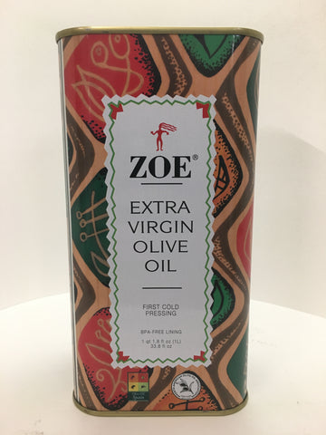 Zoe Extra Virgin Olive Oil 1 Liter Tin