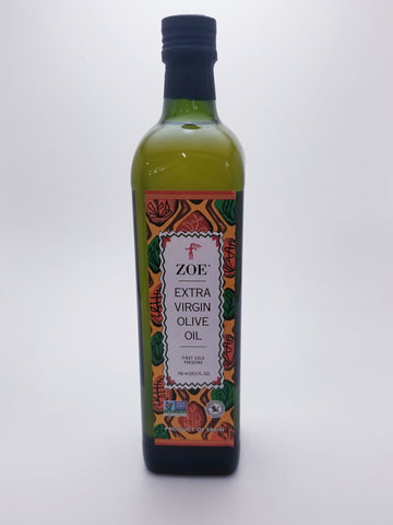 Zoe Extra Virgin Olive Oil 750 Milliliter Glass Bottle