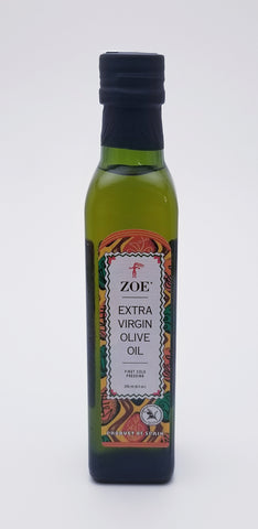 Zoe Extra Virgin Olive Oil 250 Milliliter Glass Bottle