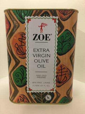 Zoe Extra Virgin Olive Oil 3 Liter Tin