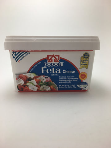 Dodoni Feta in Brine 1000g - Nick's International Foods