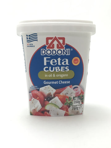 Dodoni Feta Cubes in Oil and Oregano 150g - Nick's International Foods