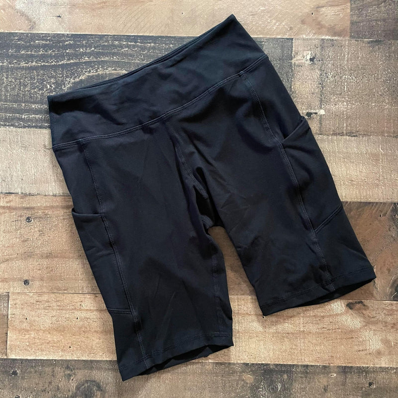 Black Pocket Bike Shorts