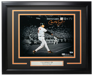 Cal Ripken Jr. Signed Framed Orioles 8x10 Spotlight Photo MLB+Fanatics