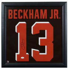 Odell Beckham Signed Framed Cleveland Browns 20x20 Jersey Photo JSA
