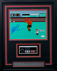 Mike Tyson Signed Framed 8x10 Punch Out Photo w/ Nintendo Controller JSA ITP