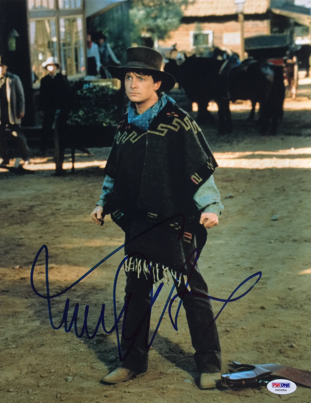 Michael J. Fox Signed 11x14 Back To The Future Photo PSA U45984