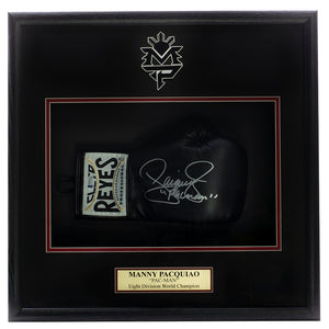 Manny Pacquiao Signed Black Cleto Reyes Glove Shadowbox BAS