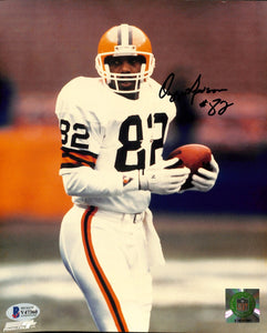Ozzie Newsome Signed 8x10 Cleveland Browns Football Photo BAS