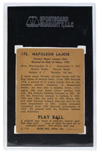 1940 Play Ball Larry Lajoie Cleveland Naps Card #173 VG 3 SGC - Sports Integrity