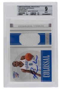 2009 Russell Westbrook Signed National Treasures 9 #23 Colossal Card BGS Auto 10 - Sports Integrity