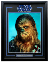 Peter Mayhew Signed Framed Star Wars Chewbacca 16x20 Photo BAS