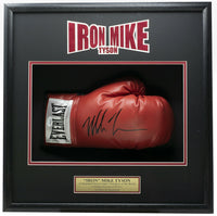 Mike Tyson Signed Red Right Hand Everlast Boxing Glove Shadowbox JSA ITP