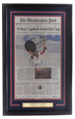 Capitals Framed June 8 2018 Stanley Cup Champs Washington Post Cover