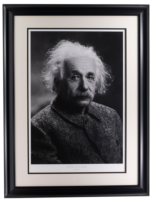 Albert Einstein Framed Historical Photo Archive Limited Edition Giclee