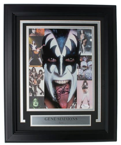Gene Simmons Signed Framed Kiss 8x10 Photo JSA