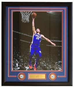 Ben Simmons Framed 16x20 76ers Spotlight Photo w/ Laser Engraved Signature