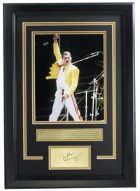 Freddie Mercury Framed 8x10 Queen Photo w/ Laser Engraved Signature