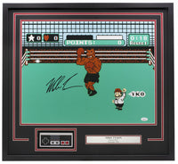 Mike Tyson Signed Framed Boxing 16x20 Punch Out Photo Controller JSA