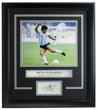 Diego Maradona Framed 8x10 Argentina Photo w/Laser Engraved Signature