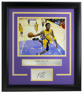Kobe Bryant Framed 8x10 L.A. Lakers Dunk Photo w/Laser Engraved Signature