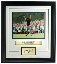 Phil Mickelson Framed 8x10 Golf Photo w/Laser Engraved Signature