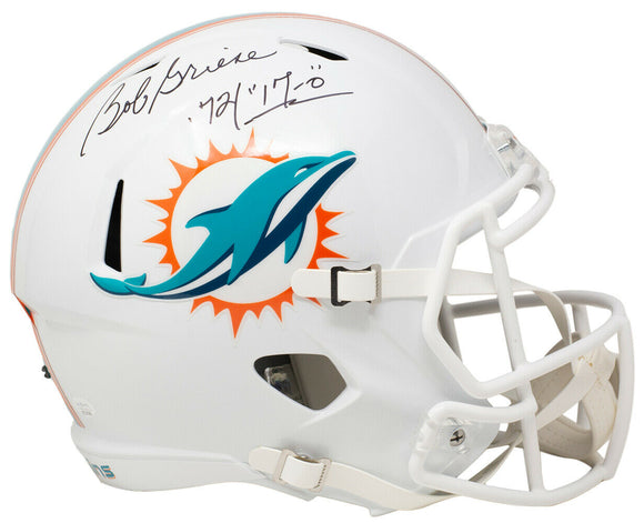 Bob Griese Signed Full Size Dolphins White Speed Replica Helmet 72/17-0 JSA ITP